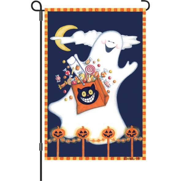 Premier kites - 12 in. Halloween Garden Flag - Candy Ghost
