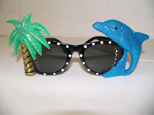 FZ - Flamingo and Palm Tree sunglasses