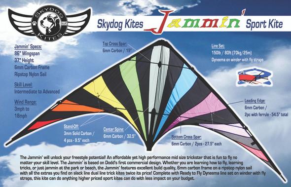 Skydog Kites - Jammin' Black