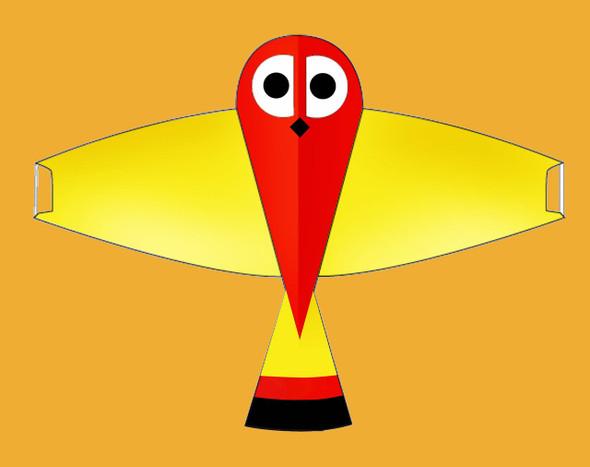 "Gomberg Kites - Whoo-Dini the Owl ""Yellow"""