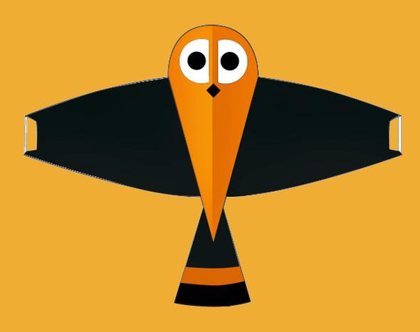 "Gomberg Kites - Whoo-Dini the Owl ""Black"""