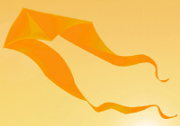 Gomberg Kites - Ghost Delta 7' x 22' gold