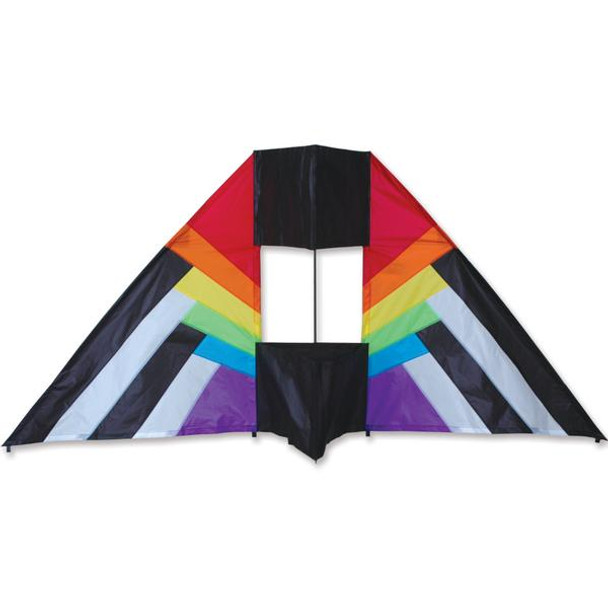 Premier Kites - 5.5 ft. Box Delta Kite - Rainbow Spectrum