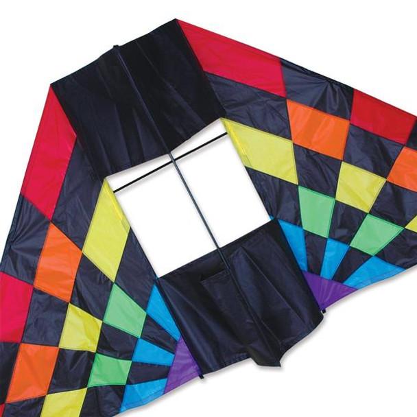 Premier Kites - 7.5 ft. Box Delta Kite - Rainbow Ray