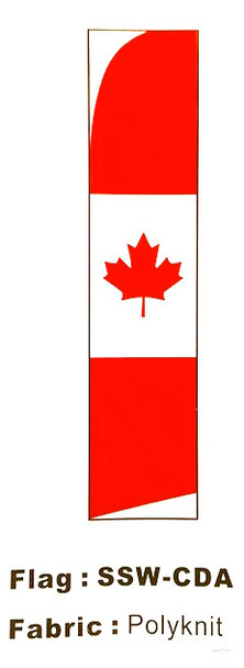 Flag Matrix - Canada Swooper Banner 11' x 30""