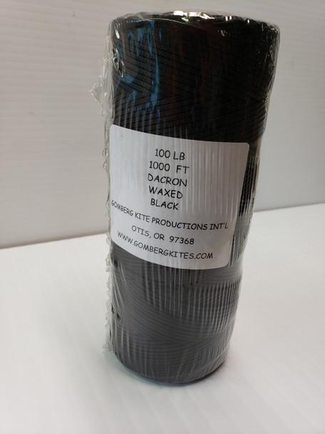 GK-Braided Dacron Line Black 100# x 1000' bulk