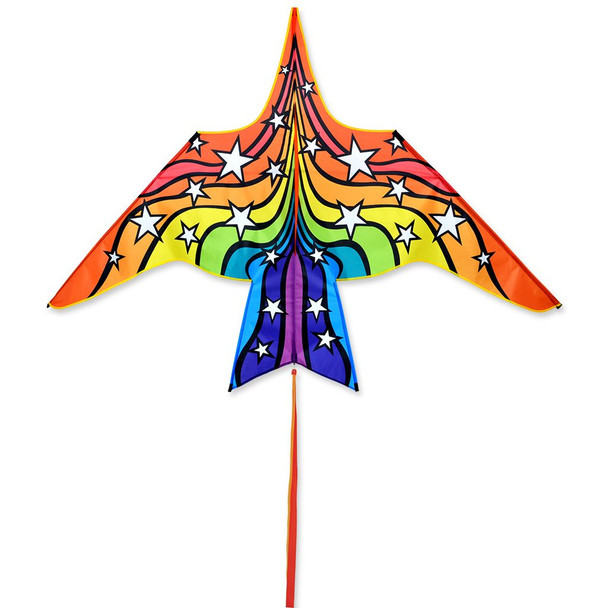 Premier Kites - Thunderbird Kite - 90 in. Rainbow Stars