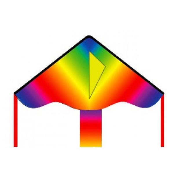 "HQ Kites - ECO: SIMPLE FLYER RADIENT RAINBOW 85CM 33"""