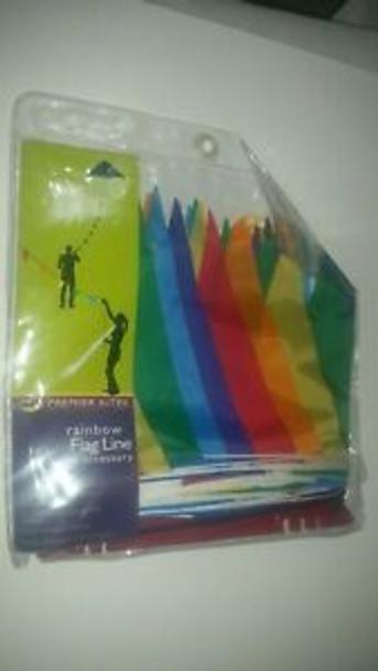 Premier kites - 100 ft. Flag Line - Rainbow