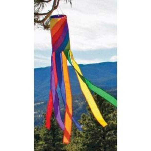 "Premier kites - Windsock 40"" Rainbow Spiral Column"