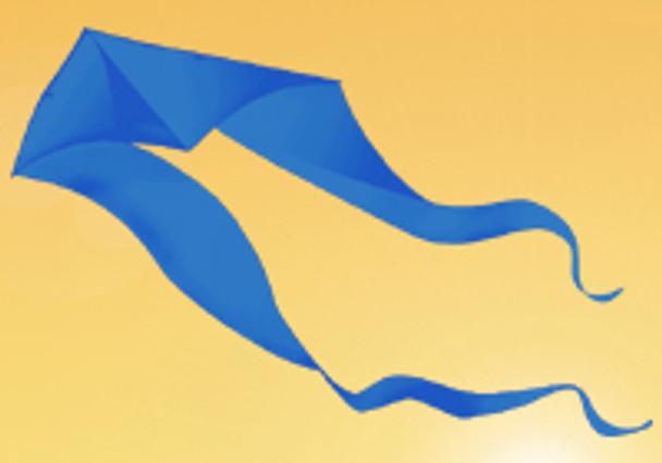 Gomberg Kites - Ghost Delta 7' x 22' Blue
