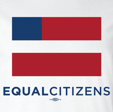 Equal Citizens Logo (Unisex White Tank)