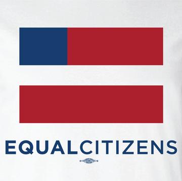 Equal Citizens Logo (Unisex White Tank)
