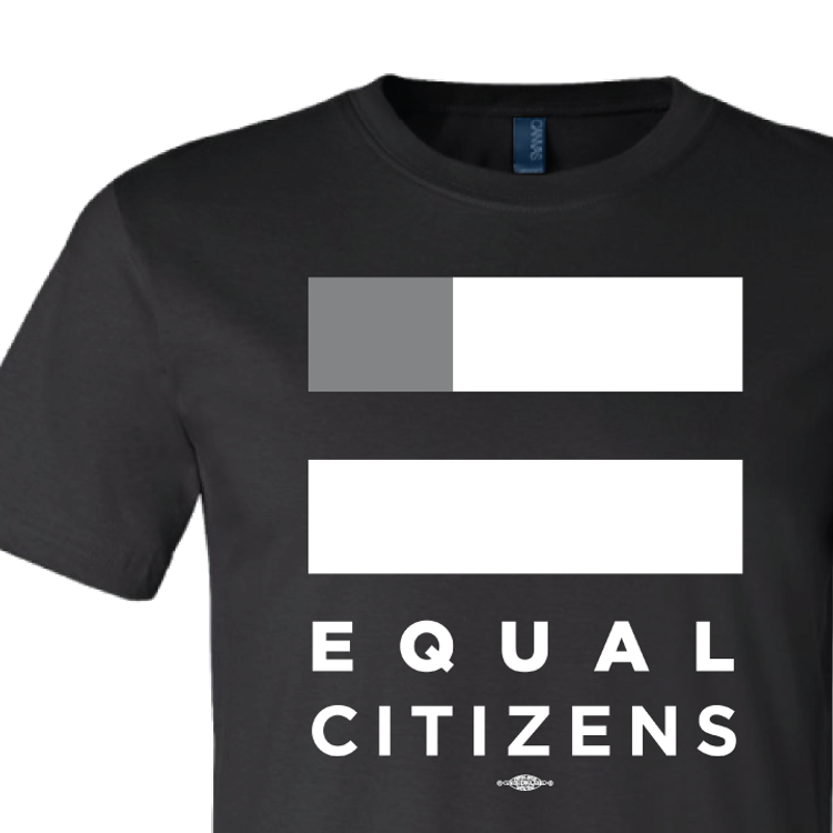 Equal Citizens Logo ( Unisex Black Tee)
