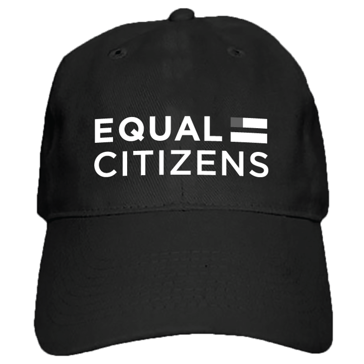 Equal Citizens Logo (Black Baseball Cap)
