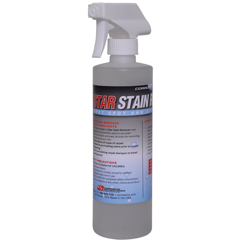 5 Star Stain Remover carpet stain and spot remover