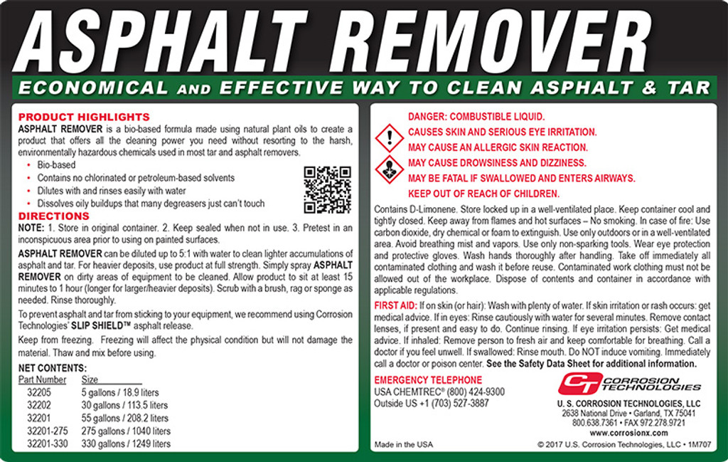 Asphalt Remover tar and asphalt cleaner / remover