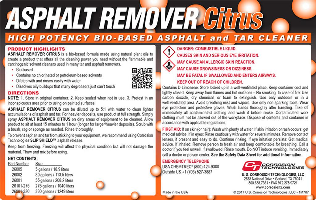 Asphalt Remover Citrus tar and asphalt remover