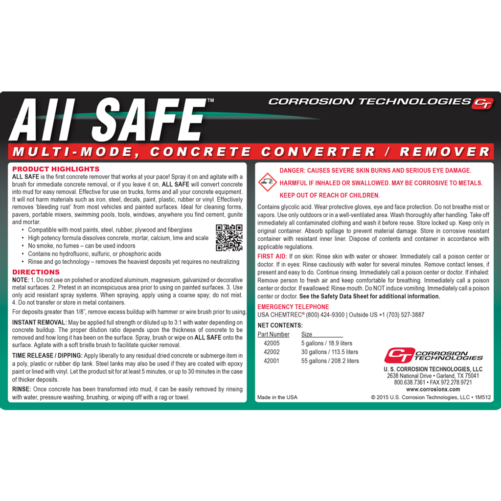 All Safe concrete remover / converter