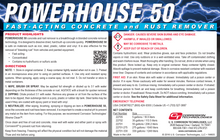 Powerhouse 50 fast-acting concrete and rust remover