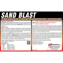 Sand Blast time-release concrete remover / converter