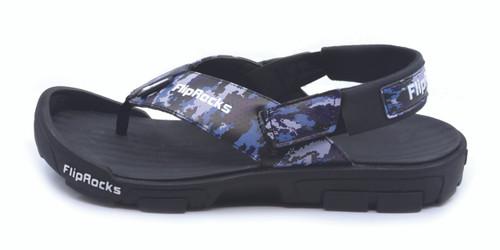 0a57649bbe3a BLUE CAMO FLIPFLOPS W HIKING PADS - Army Flip Flops - Black and Blue Flip  ...