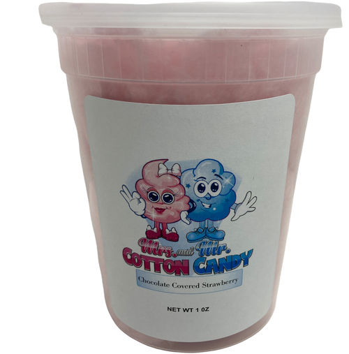 Chocolate covered Strawberry Cotton Candy