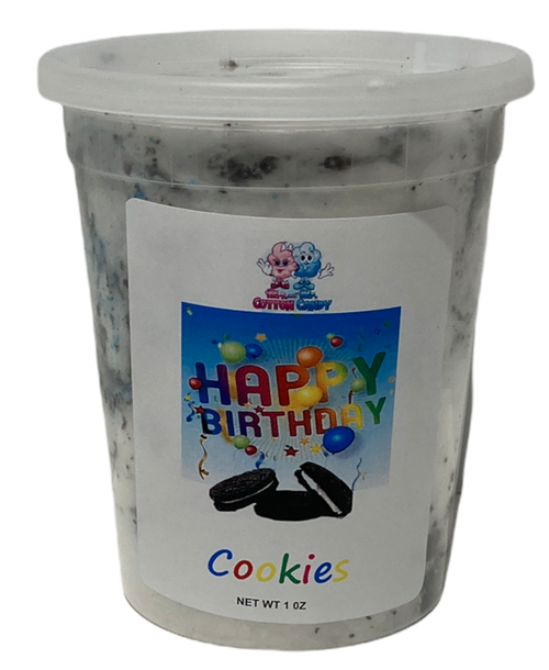 Happy Birthday Cookie Cotton Candy