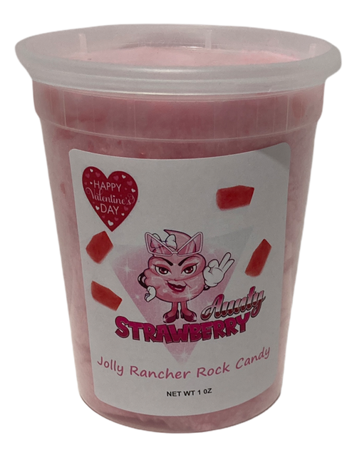 Strawberry Rock Candy Cotton Candy