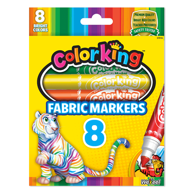 ColorKing Fabric Markers - 8 count
