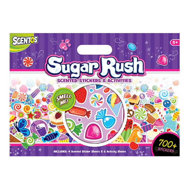 Sugar Rush Scented Stickers & Activity Book
