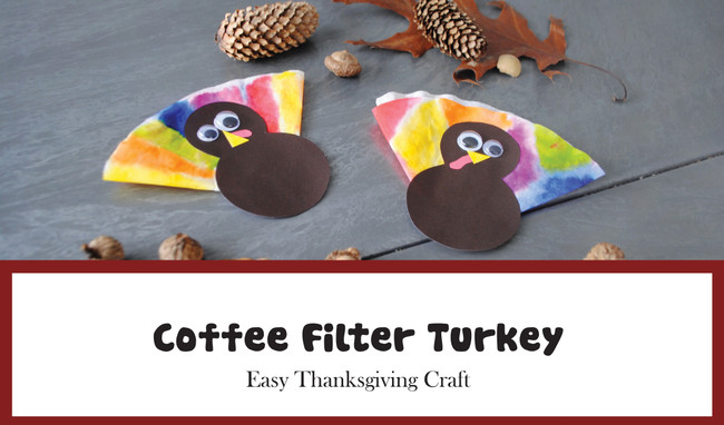 Kids' Corner: DIY Coffee Filter Turkeys