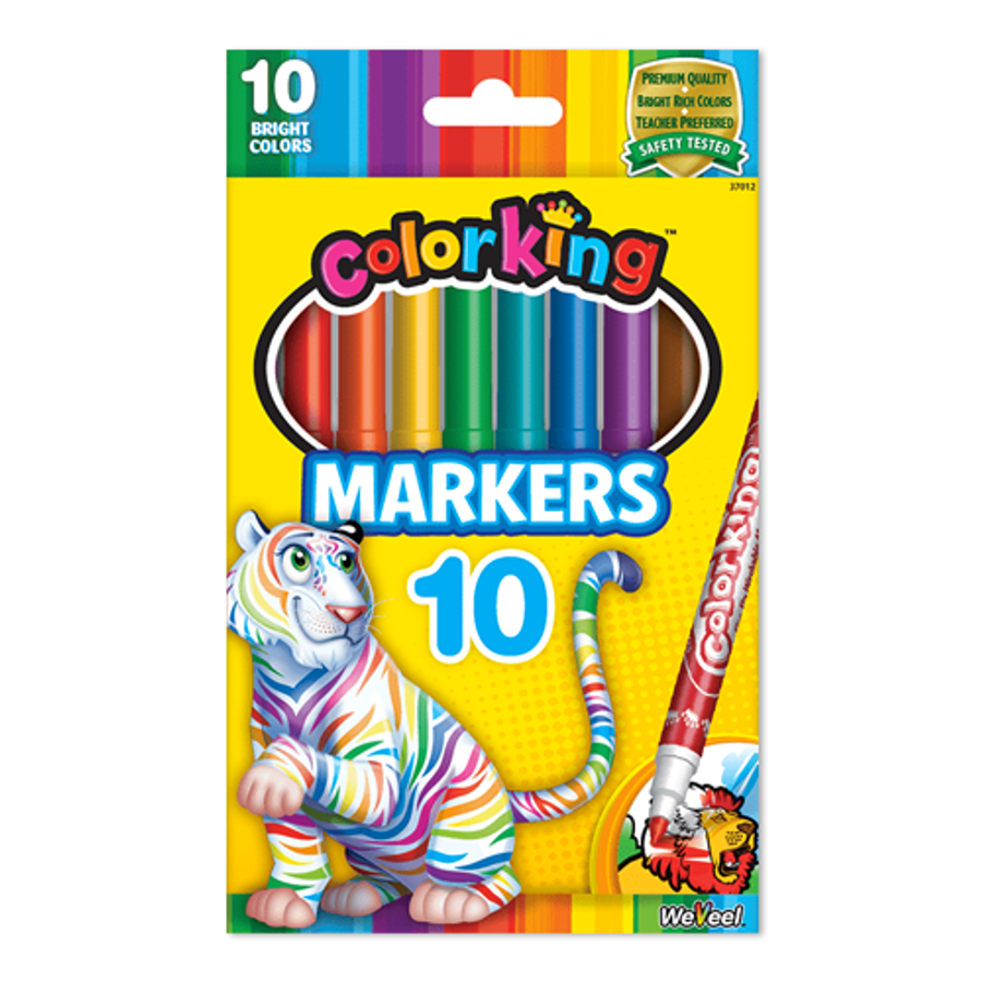 ColorKing Fine Line Markers - 10 Count