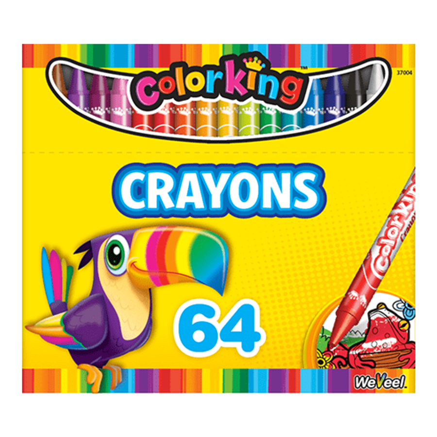 ColorKing Crayons - 64 Count