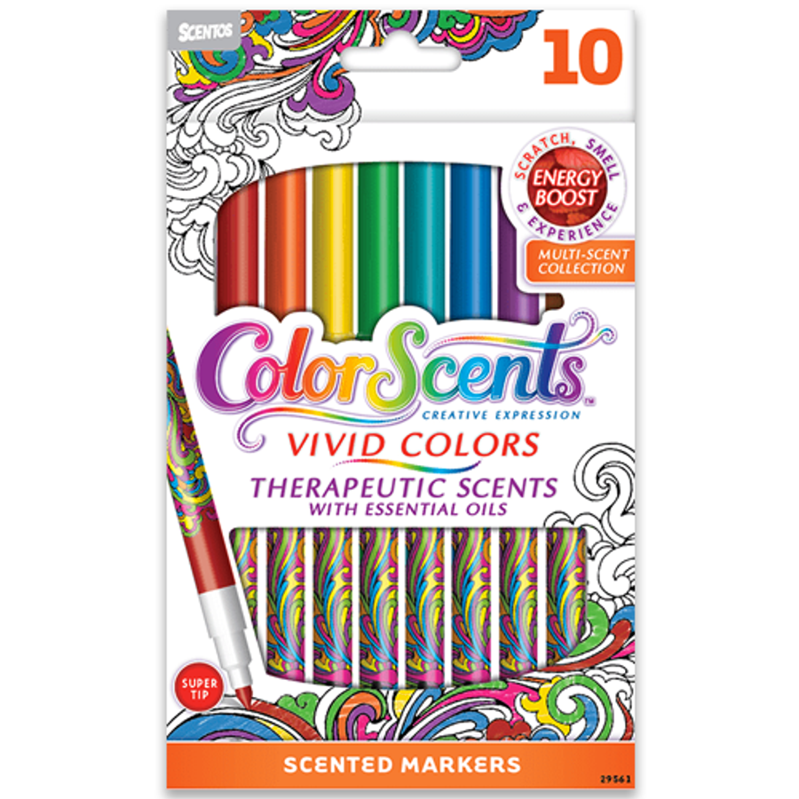 ColorScents Vivid Colors Scented Colored Pencils - 10 Count