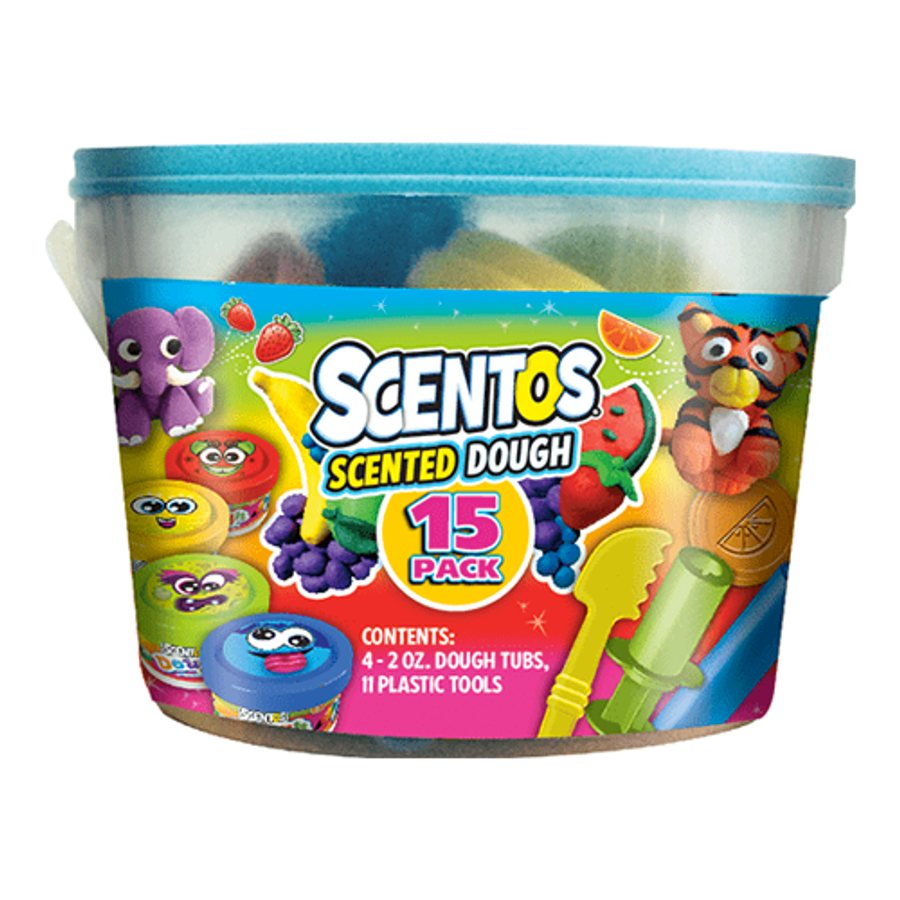 Scentos Scented Dough Cool Tools Set - 15 Count