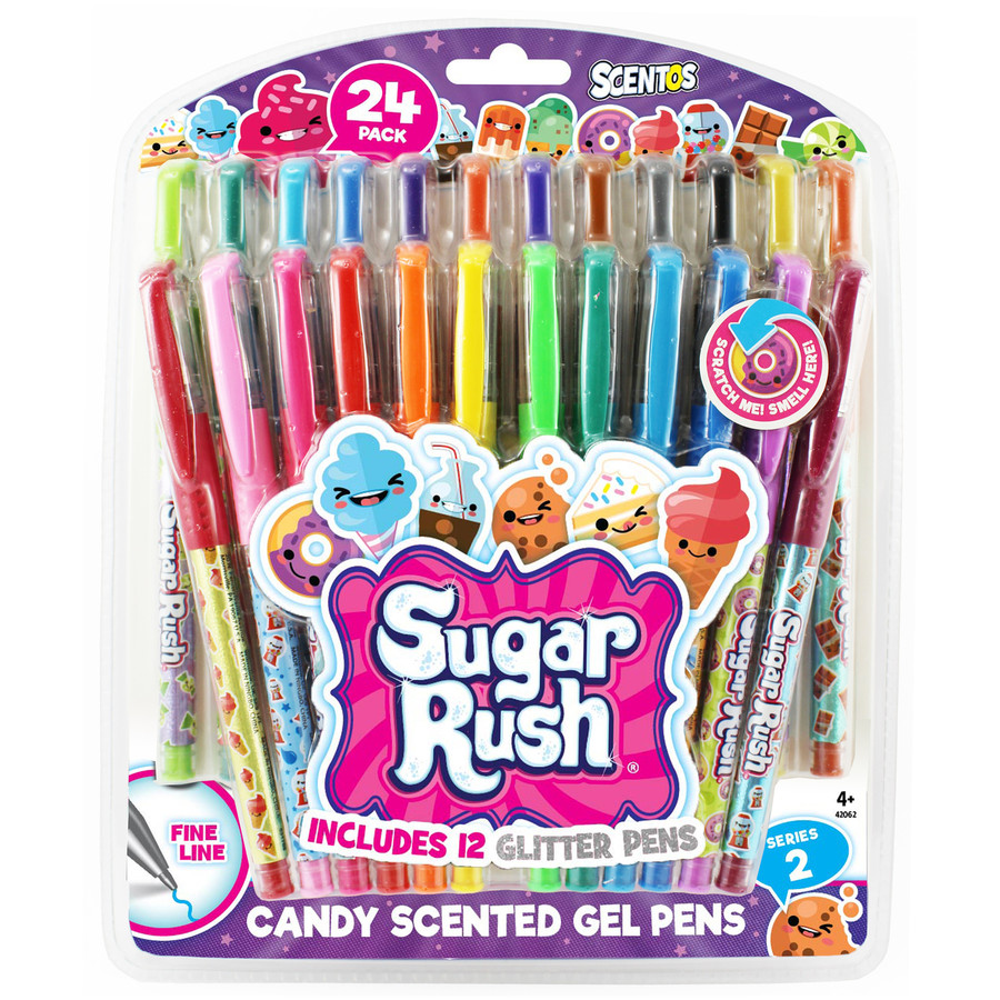 Sugar Rush Candy Scented Gel Pens - Series 2 - 24 Count