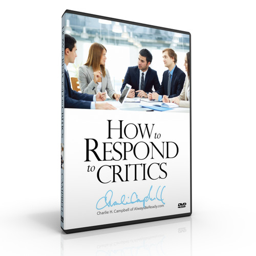How to Respond to Critics: A Strategy for Dealing with the Assertions that Often Leave Christians Speechless (DVD)