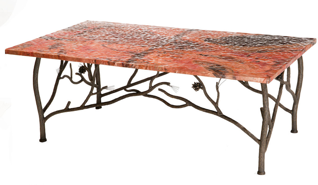 Pine Iron Coffee Cocktail Table