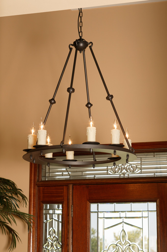 Forged Wrought Iron Chandelier Electric Candle Chandelier