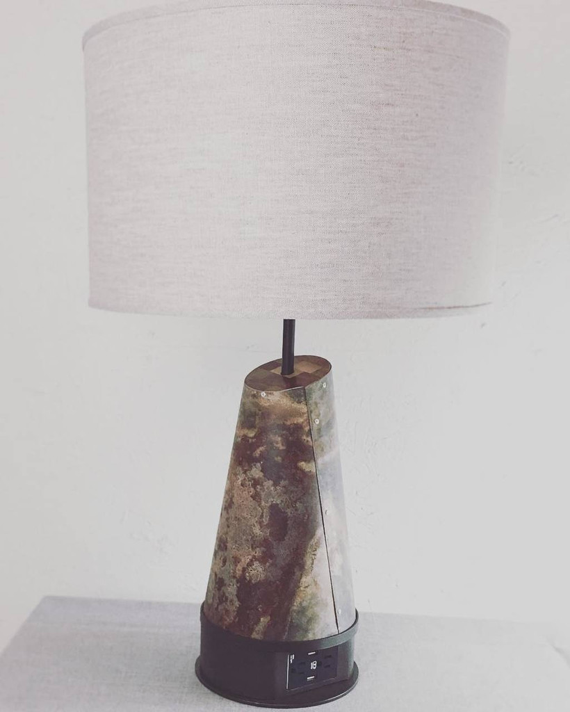 Custom Zinc Table Lamp