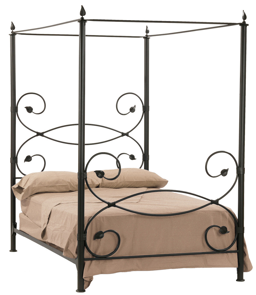Rustic Iron Bed Full Canopy Bed Stone County Ironworks
