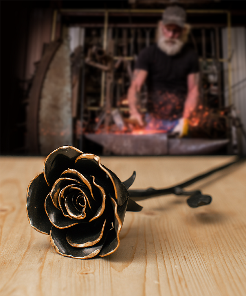 Hand Forged Rose Keepsake