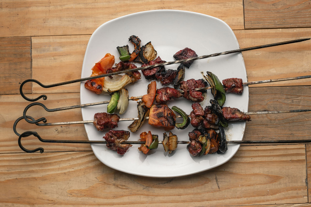 Hand-Forged Spring Skewers Set of 4