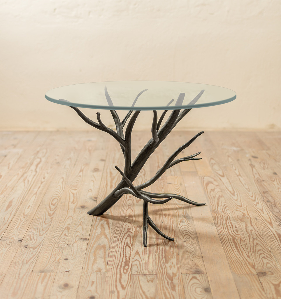Sycamore Hand-Forged Iron Side Table