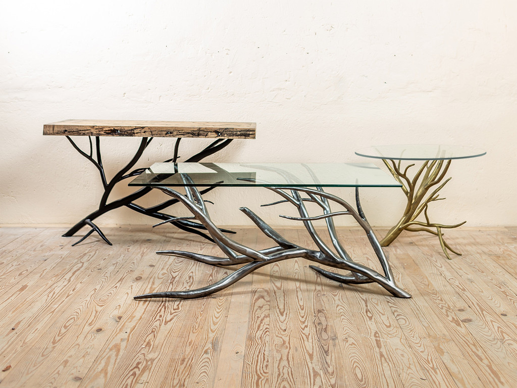 Sycamore Hand-Forged Iron Coffee Table