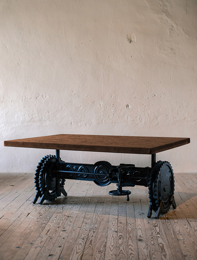Century Crank Adjustable Dining Table