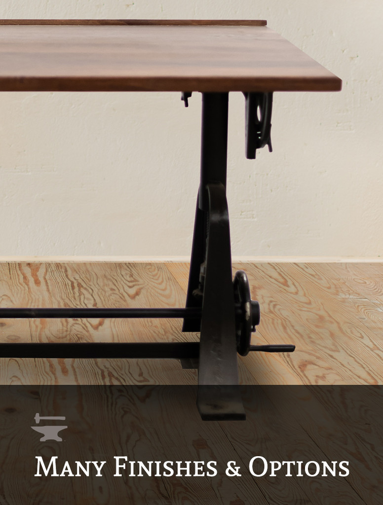 Foundry Crank Adjustable Drafting Table