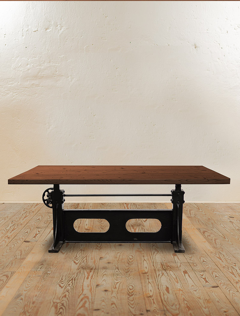 Vintage Crank Adjustable Dining Table