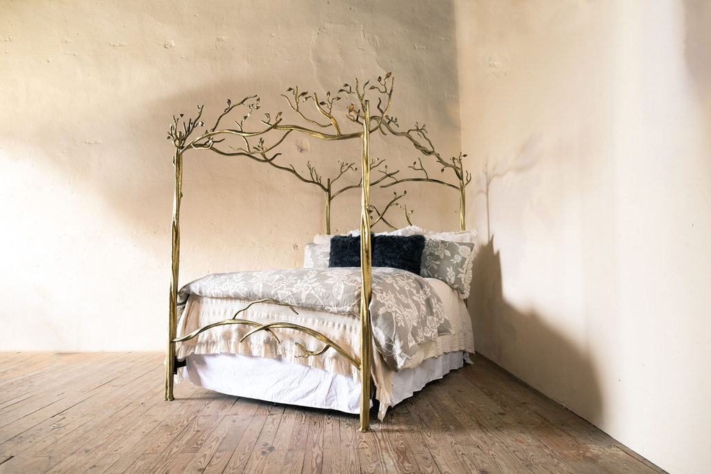 Forest Canopy Hand-Forged Iron Bed
